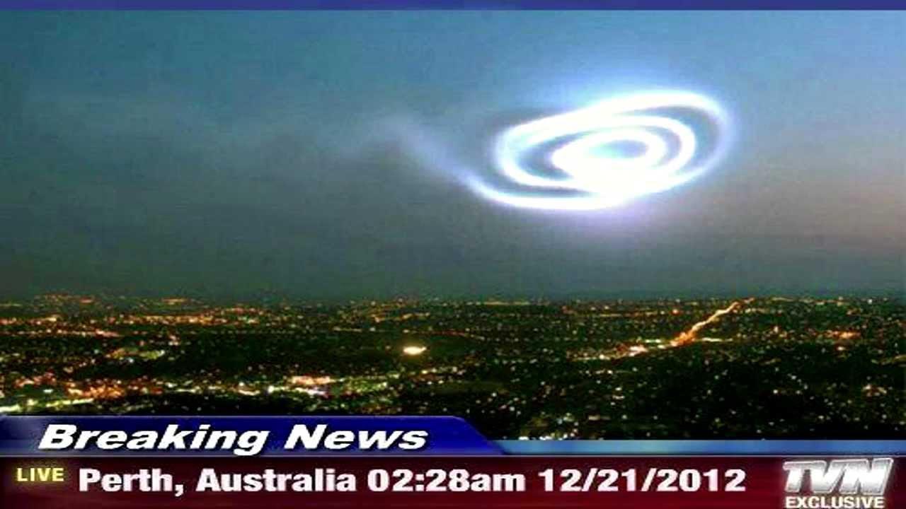 Giant Spiraling Portal Over Perth Australia December 21 2012 - YouTube