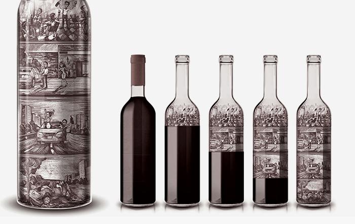 Esta botella de vino muestra las consecuencias de pasarse bebiendo ...