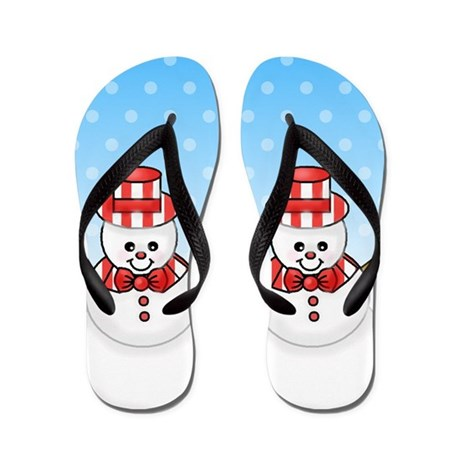 ... Gifts > 1512Blvd Footwear > Adorable Snowman Winter Flip Flops
