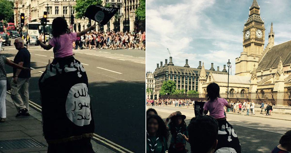 ISIS Big Ben flag: Shocking picture of man and toddler ...