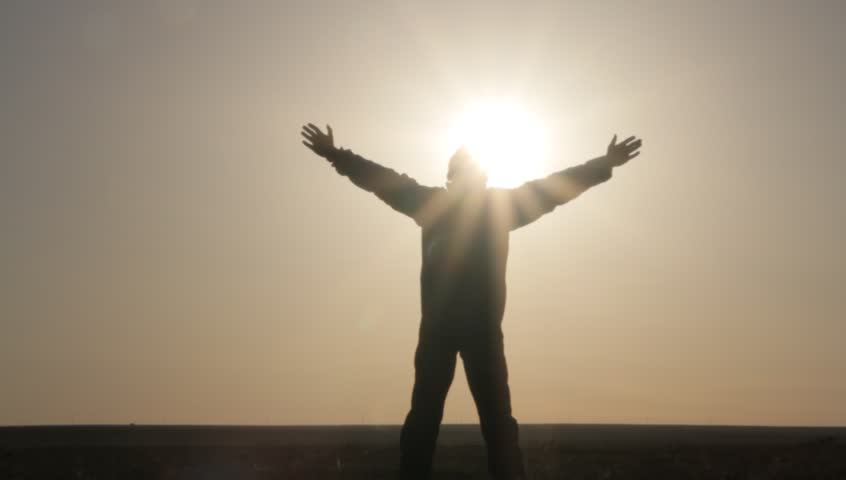 Child With Wide Open Arms Silhouette With Sun Stock Footage Video 7624072 - Shutterstock