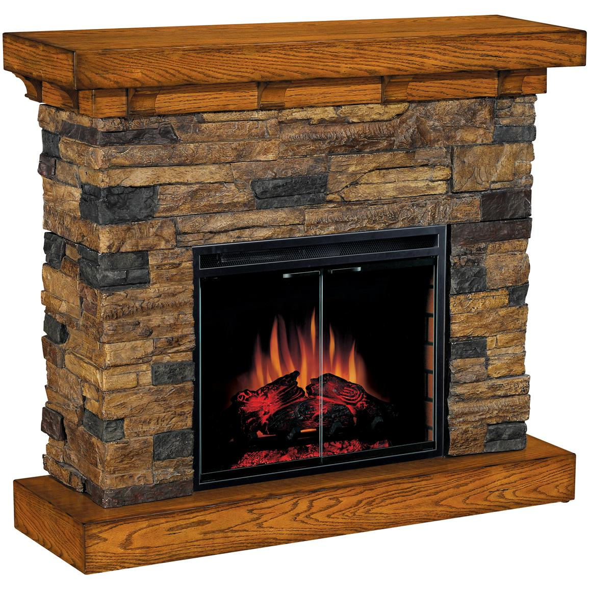 Classic Flame™ Flagstone Electric Fireplace - 175732, Fireplaces at Sportsman's Guide