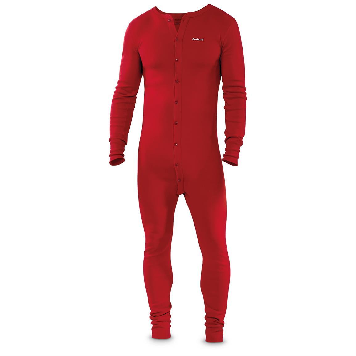Carhartt Mens Cotton Union Suit Long Underwear - 635656 Underwear  Base Layer at Sportsmans