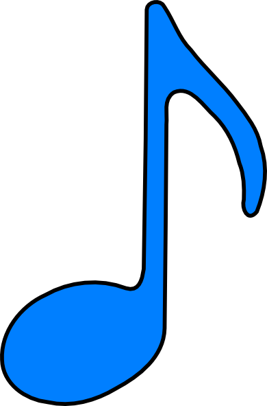 Eighth Note Blue clip art | Clipart Panda - Free Clipart Images
