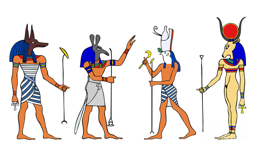 Egyptian Gods And Goddess by Michal Boubin