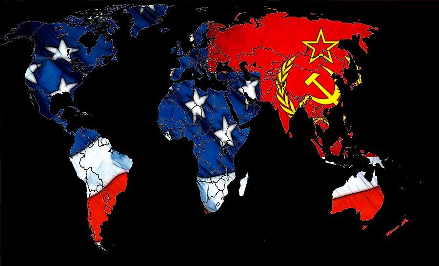 Cold War Map Digital Art