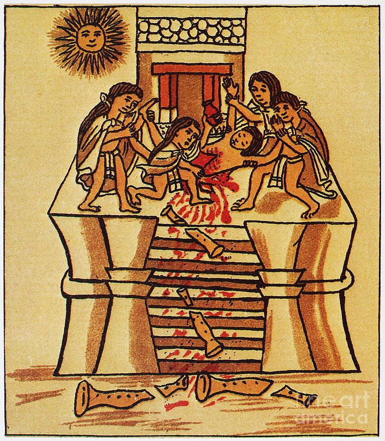 Mexico: Aztec Sacrifice by Granger