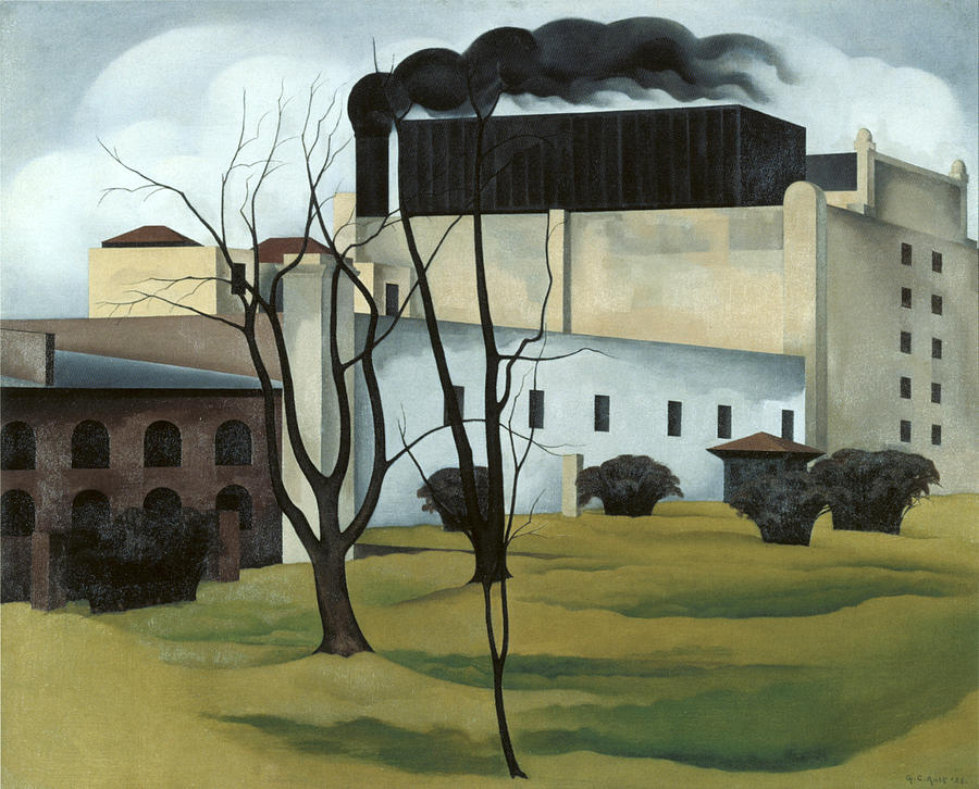 Brooklyn Ice House Painting by George Ault