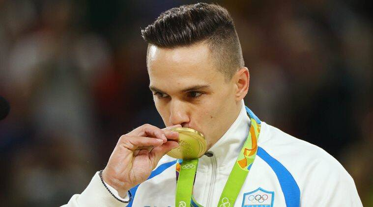 The 27-year old son of father (?) and mother(?), 164 cm tall Eleftherios Petrounias in 2018 photo