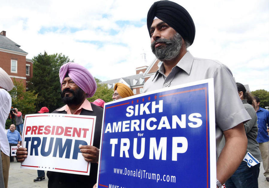 Muslim, Sikh supporters rally for President Trump - American Politics - Jerusalem Post