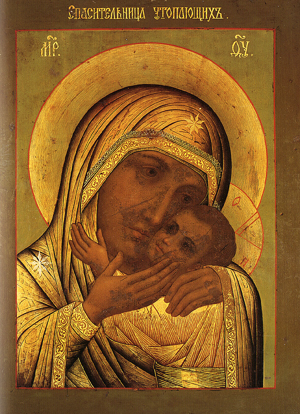 """Wüstenlicht"" Orthodoxie-Orthodoxy : Icon of the Mother of God ""the Rescuer of the Drowning"""