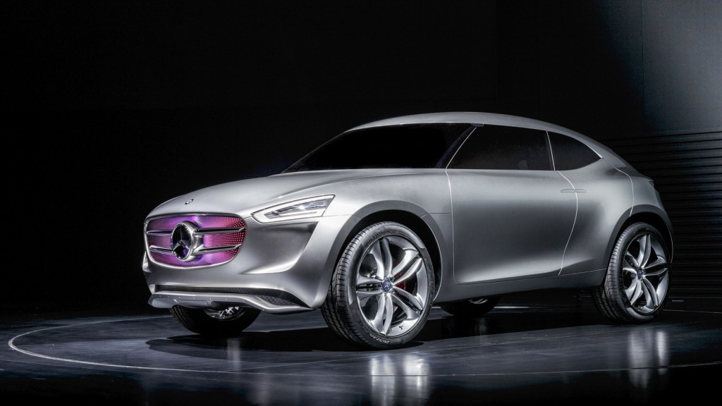 Mercedes-Benz Vision G-Code concept has a solar cell paint that also draws energy from the wind