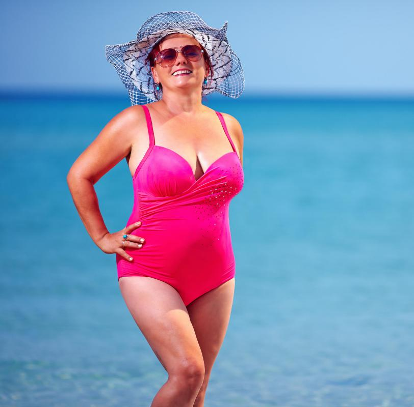 Some bathing suits contain built-in gel bras.
