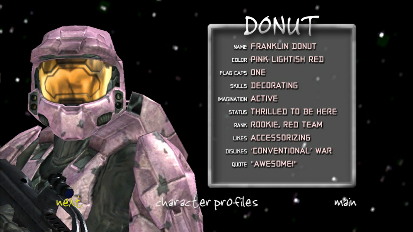 Image - Donut S4 Bio.png - Red vs. Blue Wiki, The ...