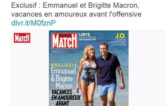 Les vacances du couple Macron dans «Paris Match» font ricaner ...