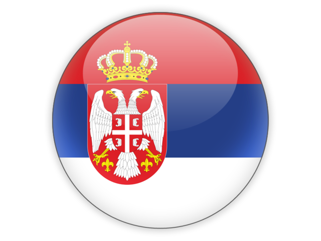 Round icon. Illustration of flag of Serbia