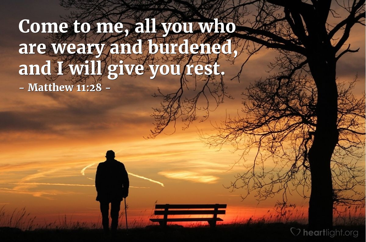 Matthew 11:28 — Today's Verse for Friday, August 21, 2015