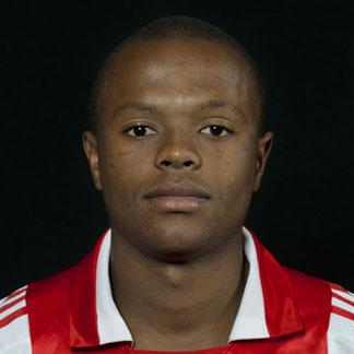 The 28-year old son of father (?) and mother(?), 172 cm tall Thulani Serero in 2018 photo