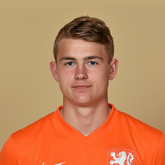 The 18-year old son of father (?) and mother(?), 183 cm tall Matthijs de Ligt in 2017 photo