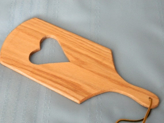 Red Oak Heart Adult Spanking Paddle by BlondiesPlace on Etsy