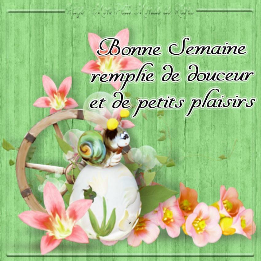 Bonne Semaine remplie de douceur et de petits plaisirs ...