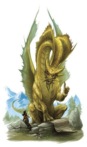 Gold dragon - The Forgotten Realms Wiki - Books, races ...