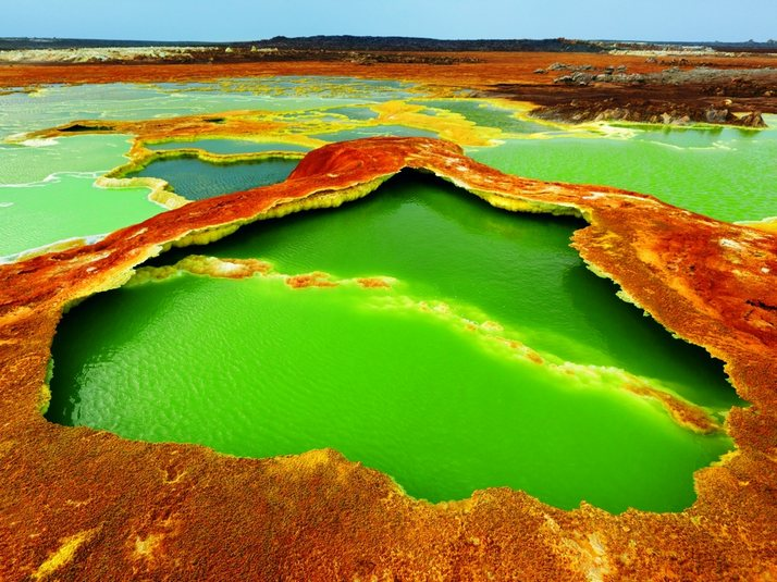 Dallol, Ethiopia, The Hottest Green Crater on Earth ...