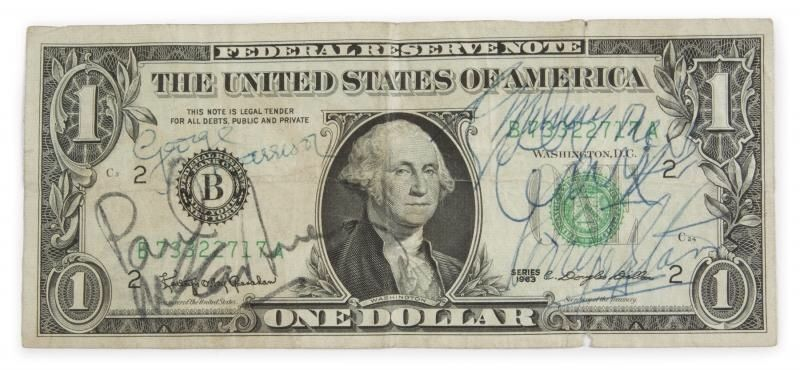 A rare dollar bill signed by The Beatles | eBay Stories