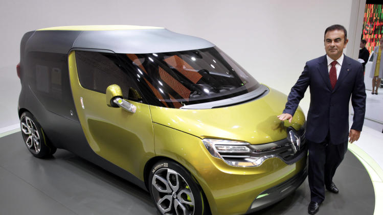 Renault's concept car - Renault CEO Ghosn says China vehicle sales could reach 800,000 a year