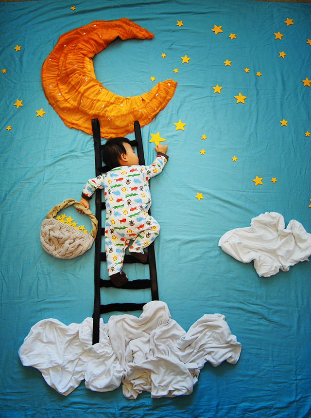A Creative Mother's Photos Take Her Sleeping Baby Boy on ...