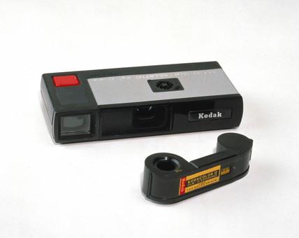 Kodak Pocket Instamatic camera and film.