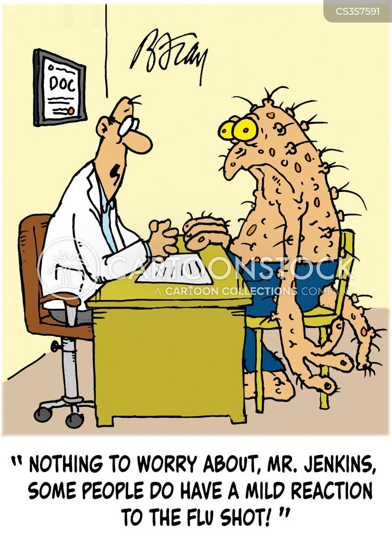 Flu Jab Cartoons and Comics - funny pictures from CartoonStock