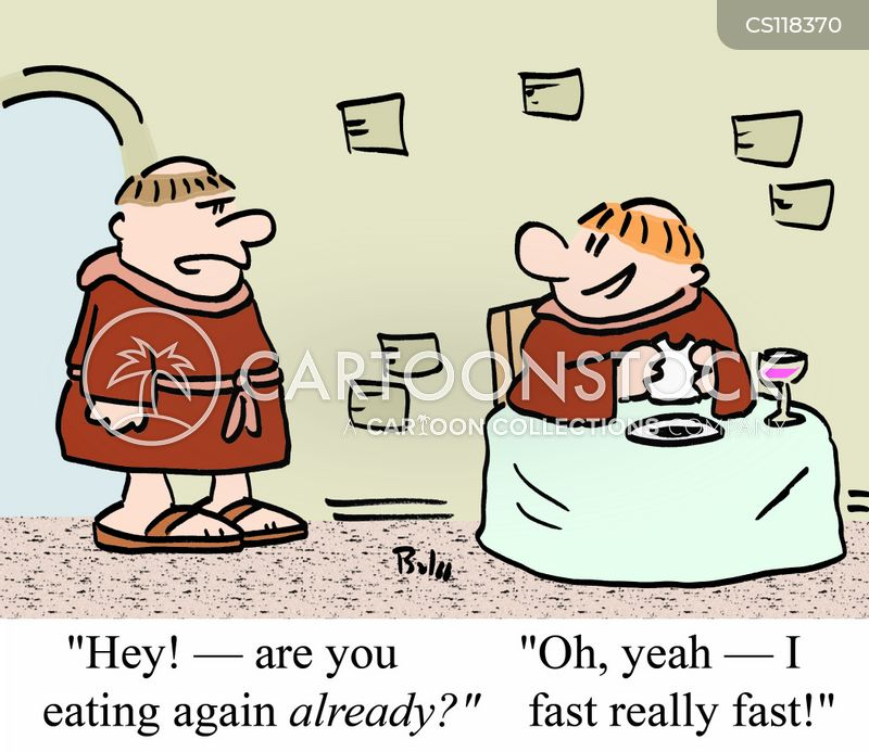 Fasting Cartoons and Comics - funny pictures from CartoonStock