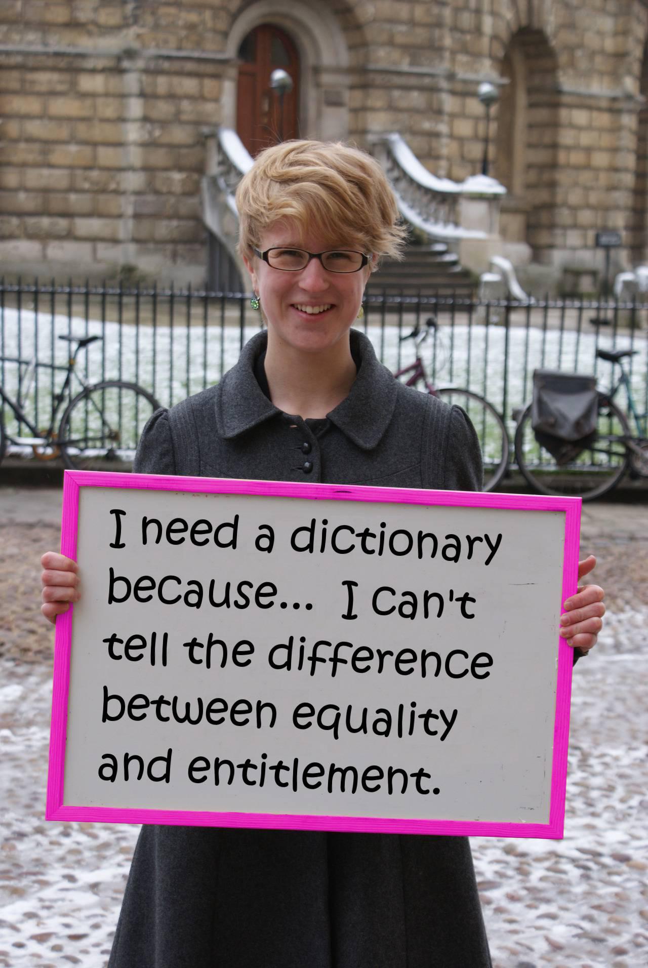 I Need Entitlement Feminism Because…   MeatGoblet.com