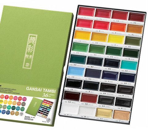 Zig Kuretake Gansai Tambi 36 WATERCOLOR set. Gorgeous!