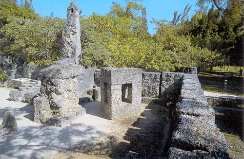 corner of the Coral Castle showing for gossip and repentance ...