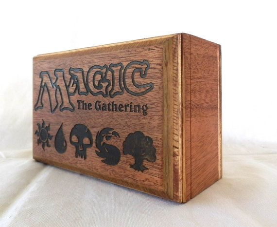 Magic the Gathering Deck Box Mahogany Wood Holds 3 by FoxAndDragon, $ ...