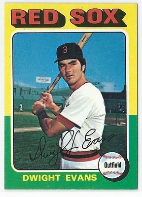 1975 TOPPS MINI DWIGHT EVANS CARD #255 in Sports Mem, Cards & Fan Shop ...