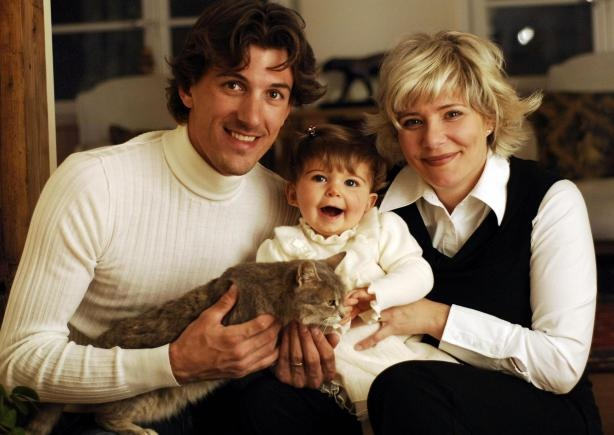 Fabian Cancellara with Wife Stefanie