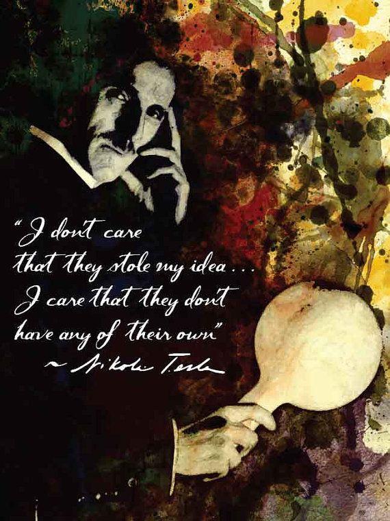 Nikola Tesla - Quote Poster- Movie Art Poster Print Nicola