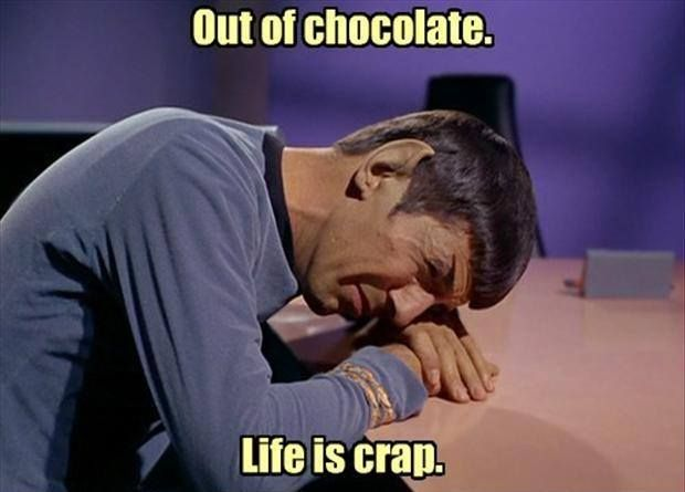 Star Trek, Spock, Out of Chocolate | Star Trek | Pinterest