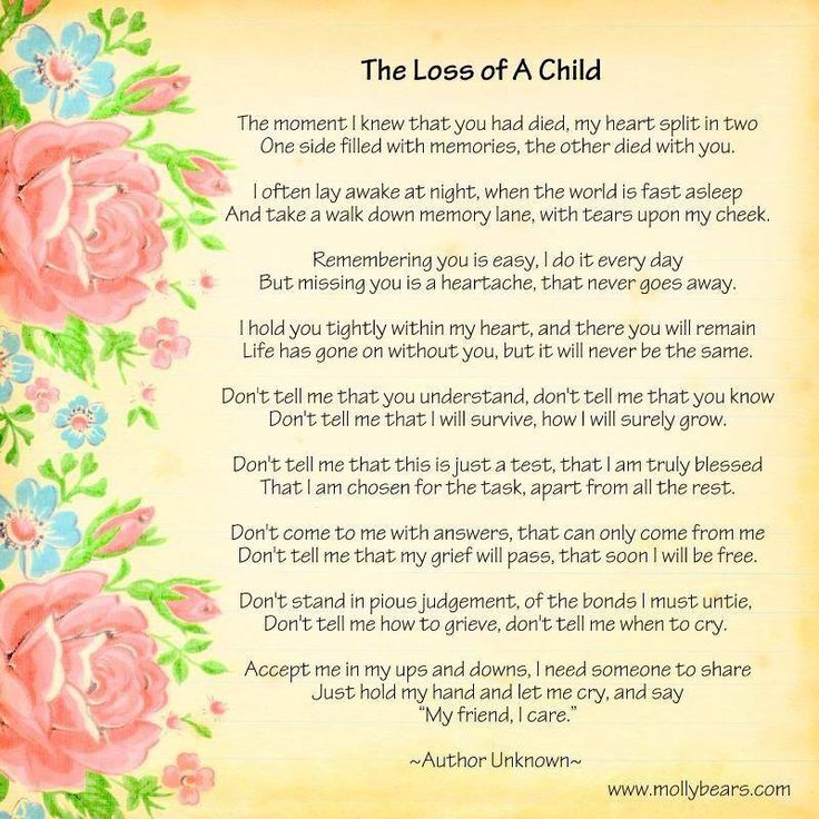 the loss of a child.. | I miss you | Pinterest
