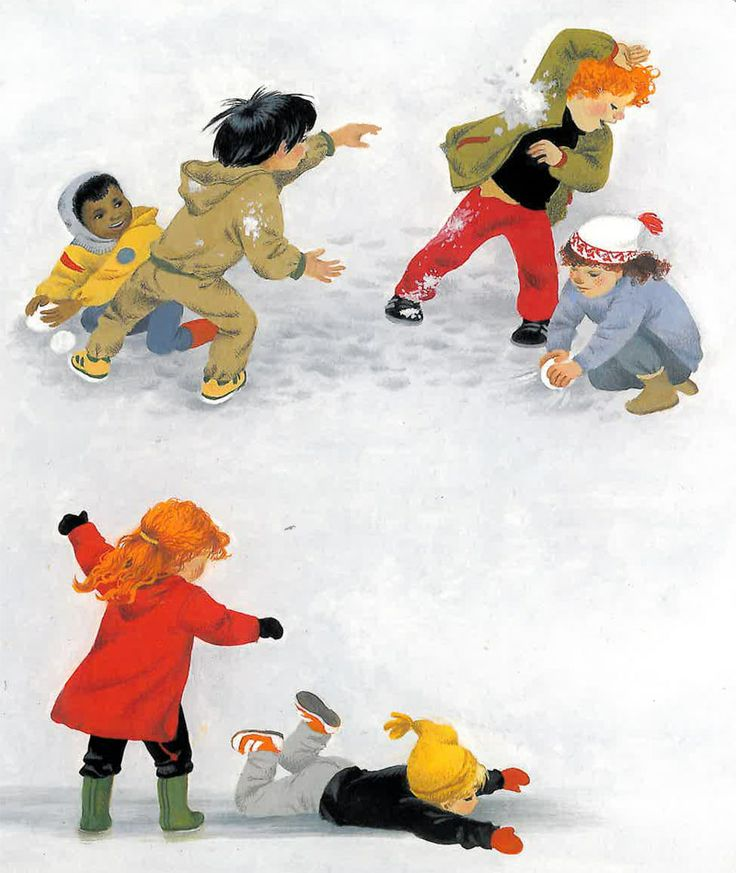 "Winter"" - part of a series of illustrated board books about the ..."