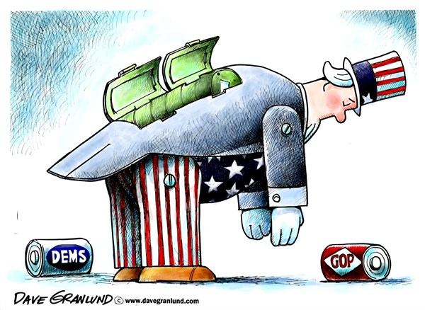 Partisan politics and Uncle Sam © Dave Granlund,Politicalcartoons.com ...