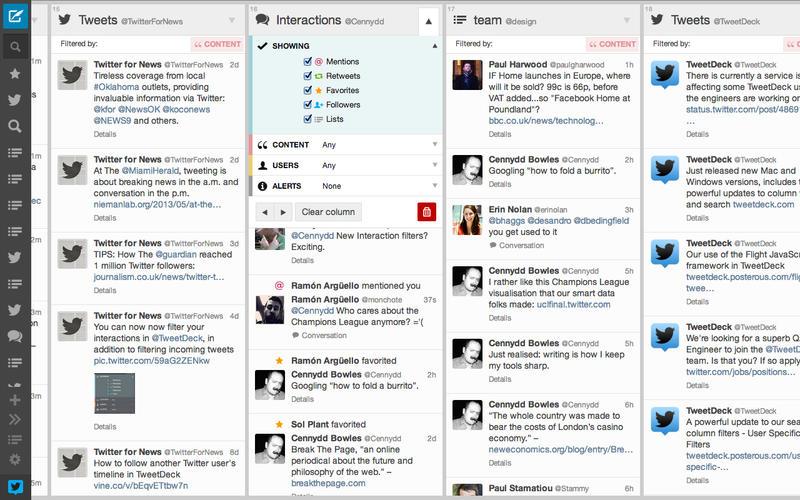 Imagen de ejemplo de una API de Twitter.
