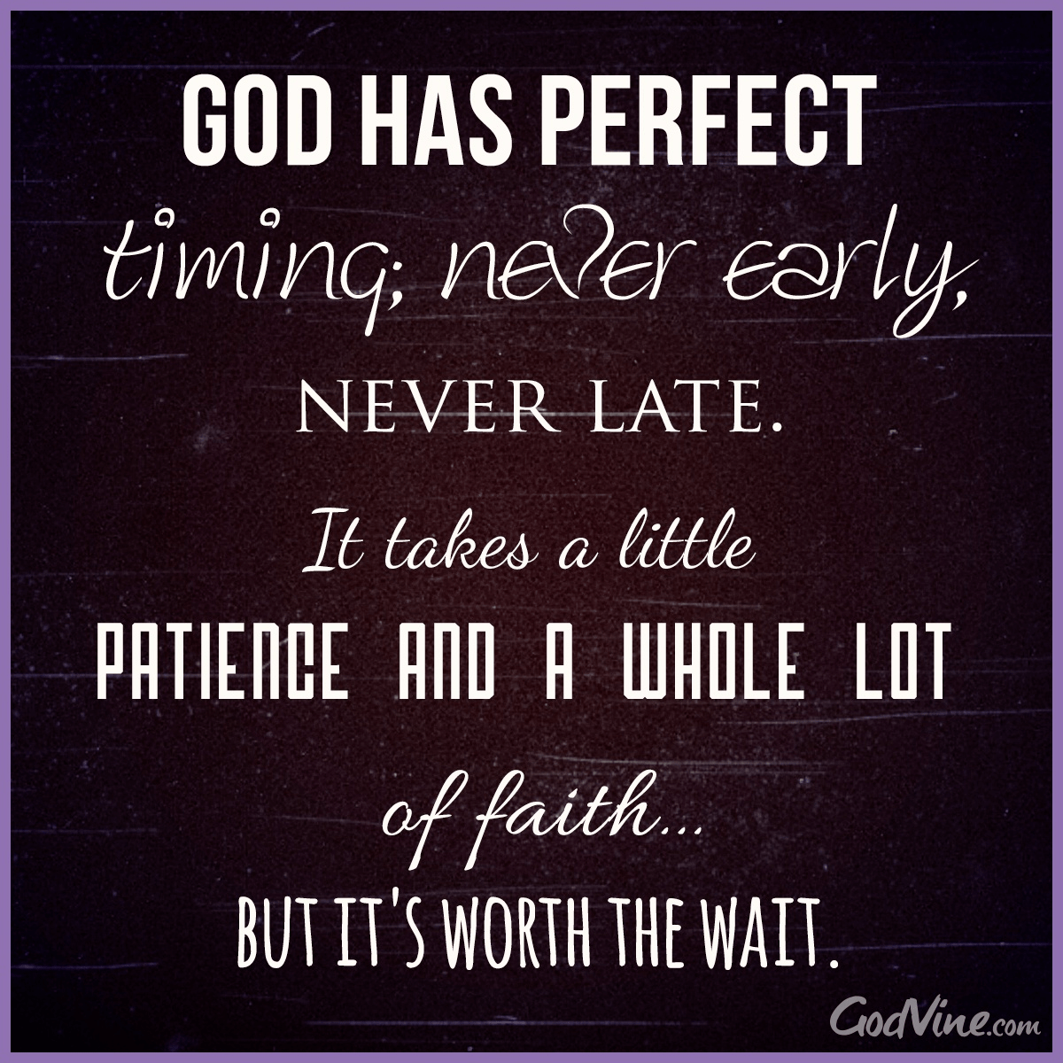 God Has Perfect Timing - Your Daily Verse