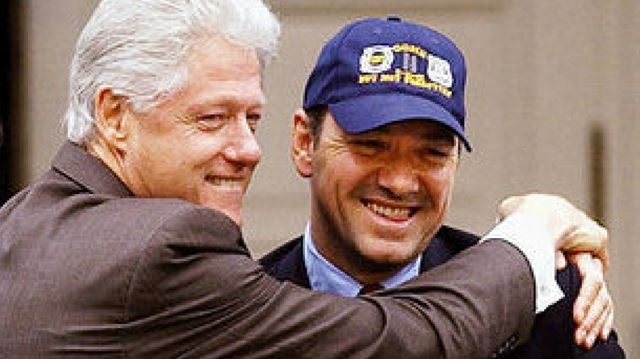 Kevin Spacey and the Bill Clinton bromance