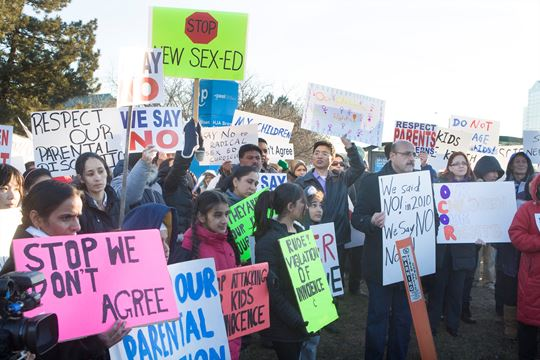 Sex-ed protesters want the school board to take action