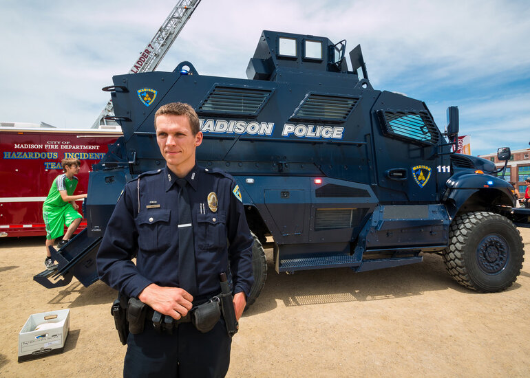Military Equipment for Police Officers Fuels Debate on Use of Force