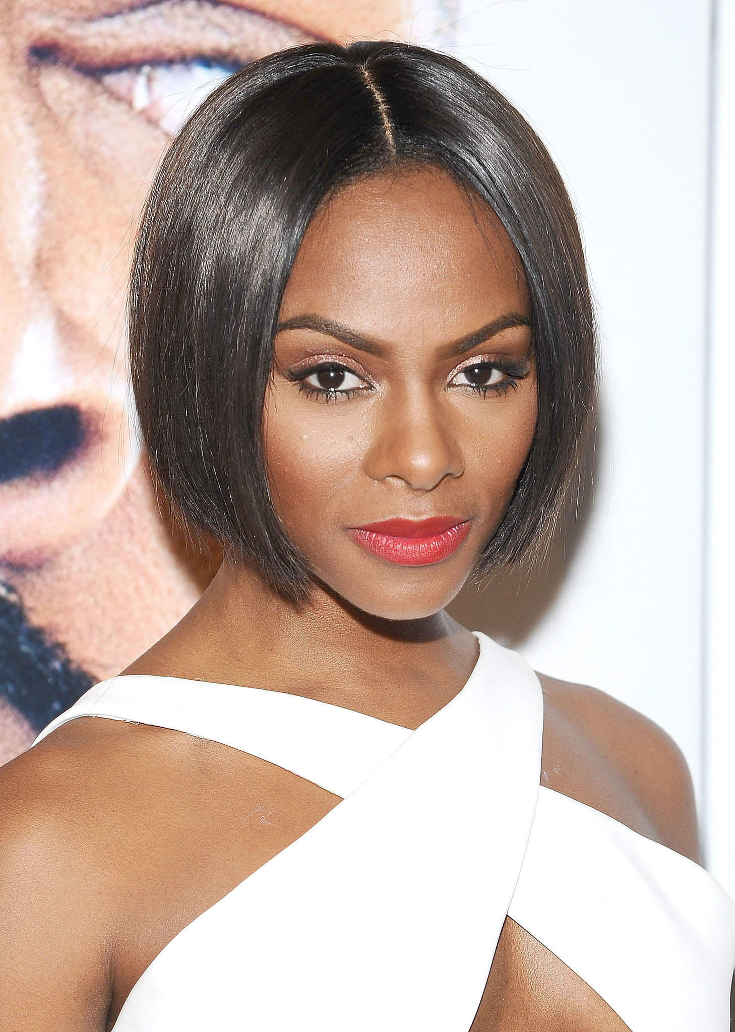The 38-year old daughter of father (?) and mother(?), 172 cm tall Tika Sumpter in 2018 photo